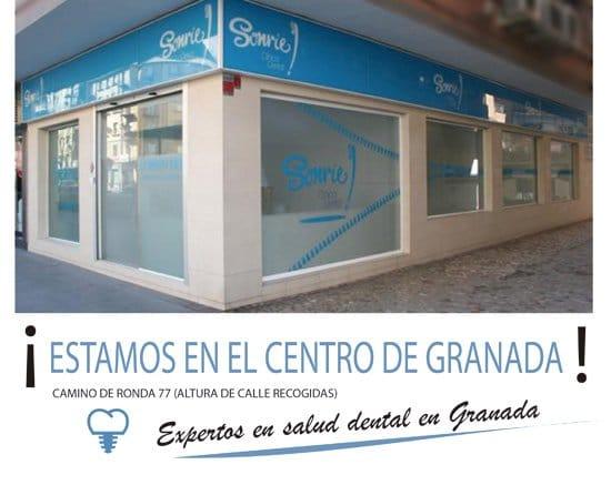 banner sobre ubicación en el centro de granada de nuestra clínica dental