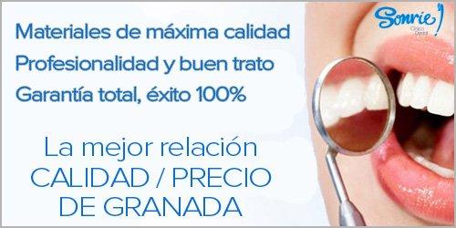 banner calidad precio en clinica dental de Granada
